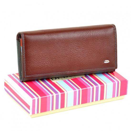 Жіночий шкіряний гаманець dr.Bond Rainbow WR1-V бордовий