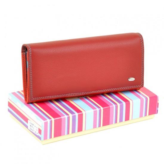 Жіночий шкіряний гаманець dr.Bond Rainbow WR1-V червоний