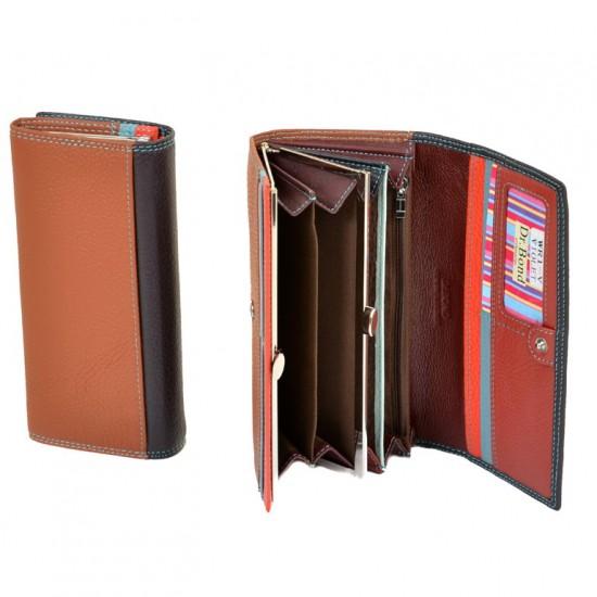 Женский кожаный кошелек dr.Bond Rainbow WR1-V фиолетовый