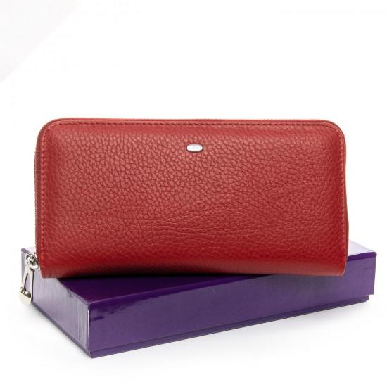 Жіночий шкіряний гаманець візитниця dr.Bond Classic WS-8 червоний