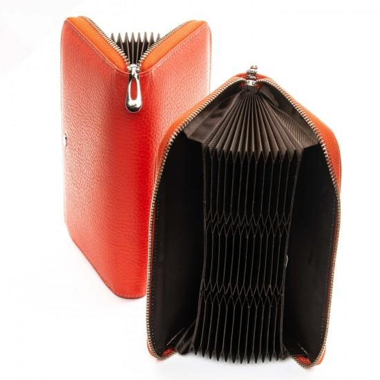 Женский кожаный кошелек визитница dr.Bond Classic WS-8 оранжевый
