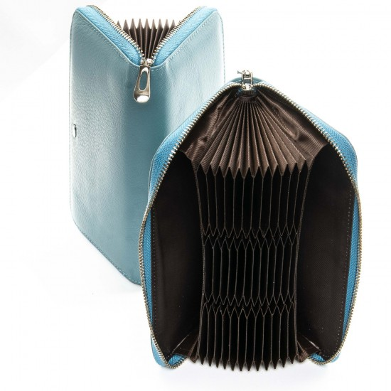 Жіночий шкіряний гаманець візитниця dr.Bond Classic WS-8 бірюзовий