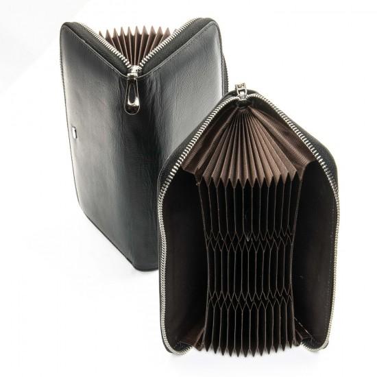 Женский кожаный кошелек визитница dr.Bond Classic WS-8 черный