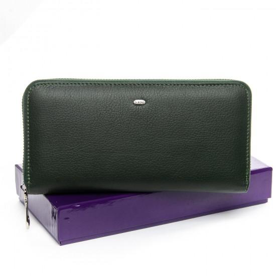 Жіночий шкіряний гаманець візитниця dr.Bond Classic WS-8 зелений