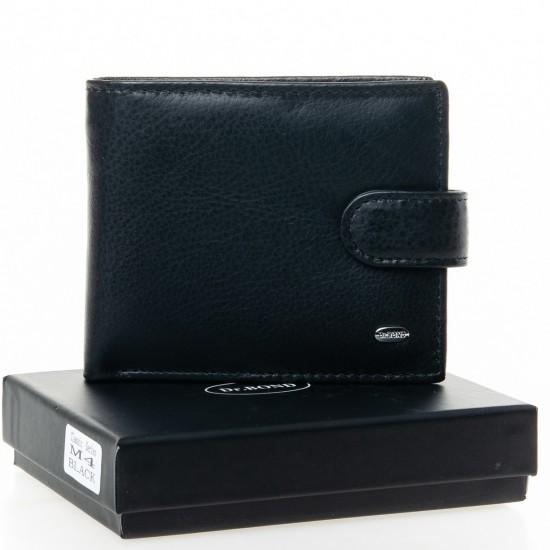 Чоловічий шкіряний портмоне dr.Bond Classic M4 чорний