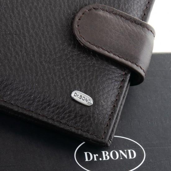 Мужской кожаный портмоне dr.Bond Classic M4 кофейный