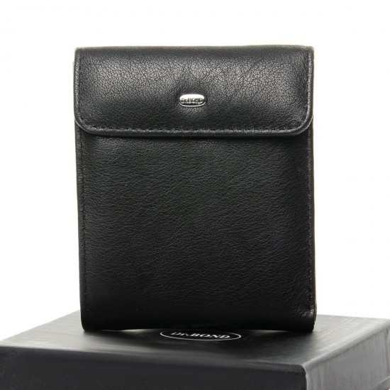 Мужской кожаный портмоне dr.Bond Classic M55 черный