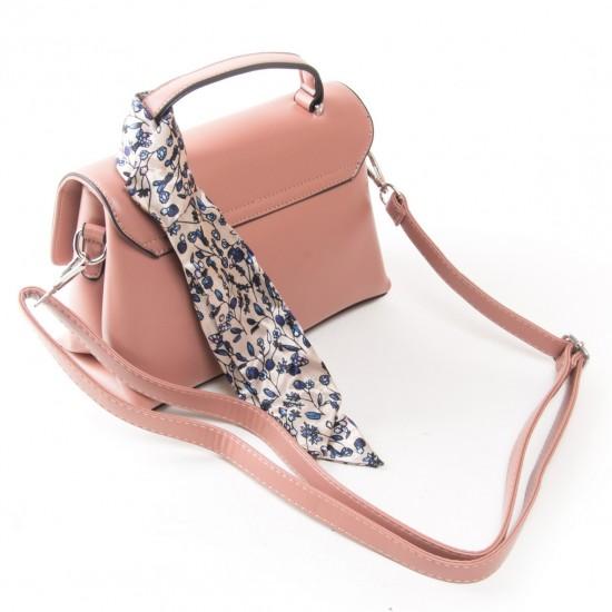 Жіноча сумочка на два відділення FASHION 701 пудра