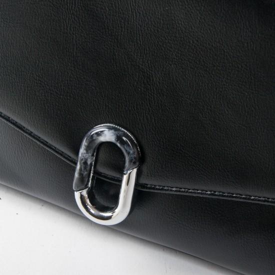 Женская сумочка на два отделения FASHION 701 черный
