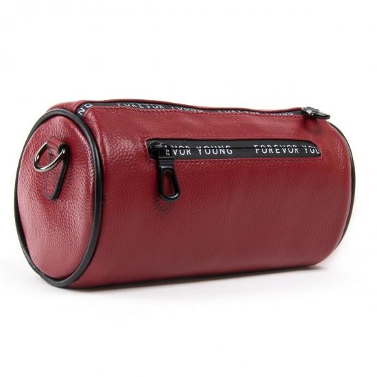 Женская сумочка-клатч из натуральной кожи ALEX RAI 39030 бордовый