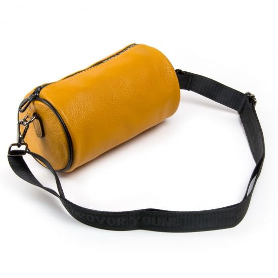 Жіноча сумочка-клатч з натуральної шкіри ALEX RAI 39030 жовтий