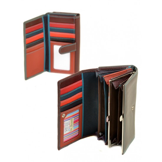 Женский кожаный кошелек dr.Bond Rainbow WR46 бордовый