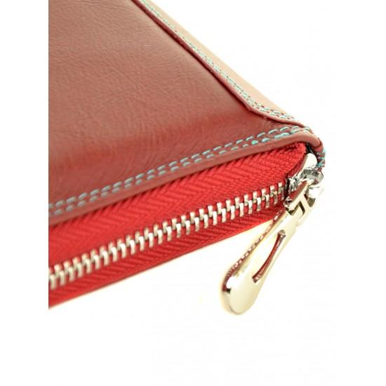 Женский кожаный кошелек dr.Bond Rainbow WRS-21 бордовый