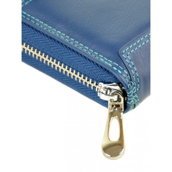 Женский кожаный кошелек dr.Bond Rainbow WRS-21 синий