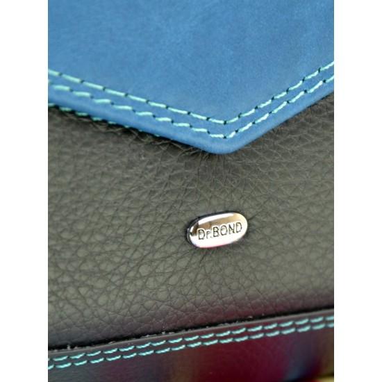 Женский кожаный кошелек dr.Bond Rainbow WRS-21 черный