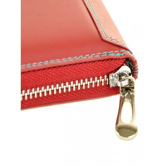 Жіночий шкіряний гаманець dr.Bond Rainbow WRS-21 червоний