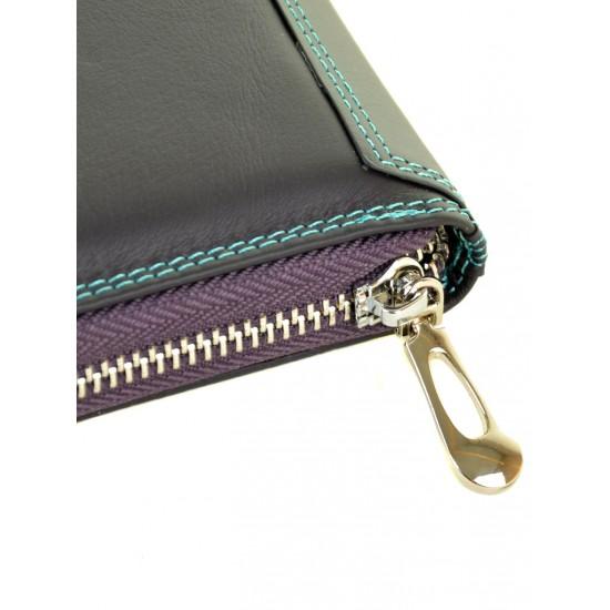 Жіночий шкіряний гаманець dr.Bond Rainbow WRS-21 фіолетовий