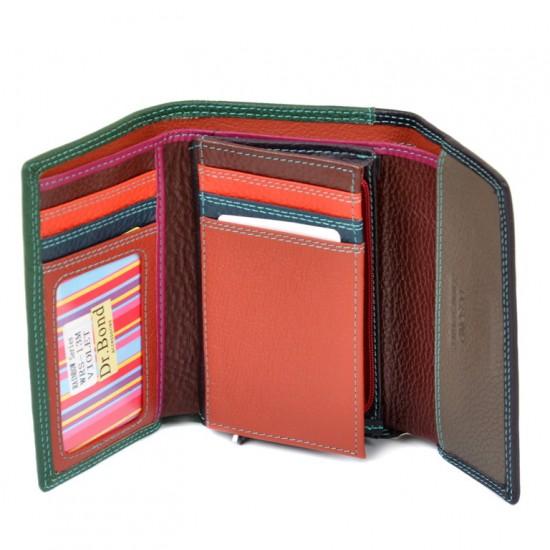 Жіночий шкіряний гаманець dr.Bond Rainbow WRS-13M фіолетовий