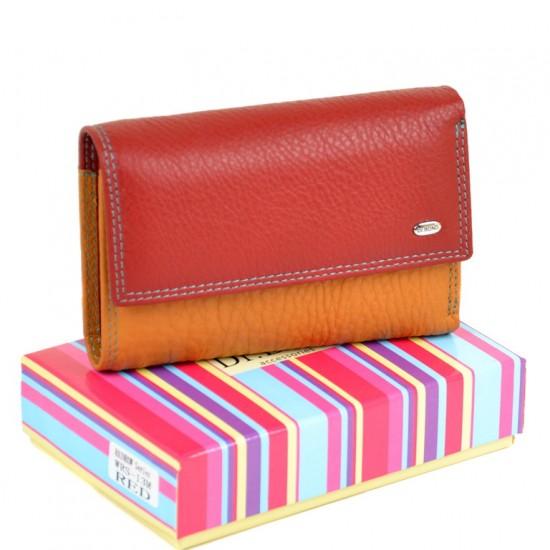 Жіночий шкіряний гаманець dr.Bond Rainbow WRS-13M червоний