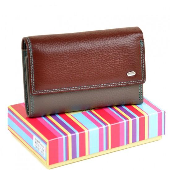 Жіночий шкіряний гаманець dr.Bond Rainbow WRS-13M бордовий