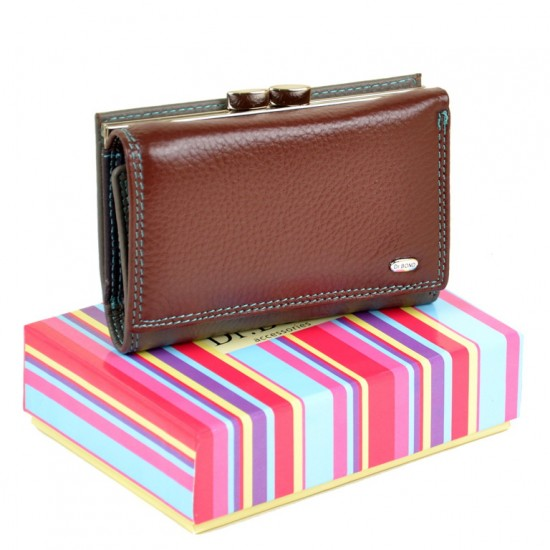 Жіночий шкіряний гаманець dr.Bond Rainbow WRS-11 бордовий