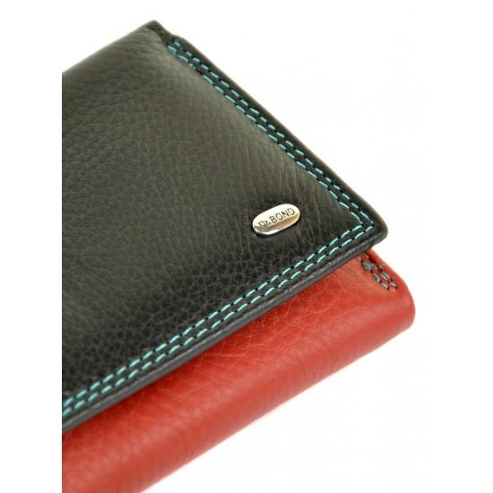 Женский кожаный кошелек dr.Bond Rainbow WRS-11 черный