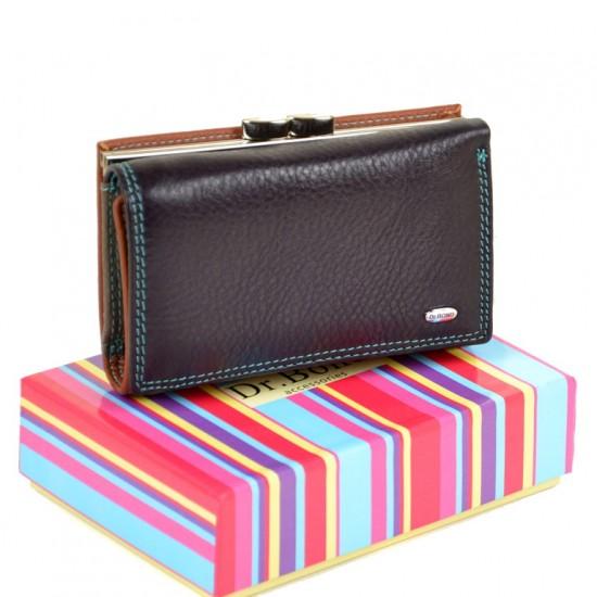 Женский кожаный кошелек dr.Bond Rainbow WRS-11 фиолетовый