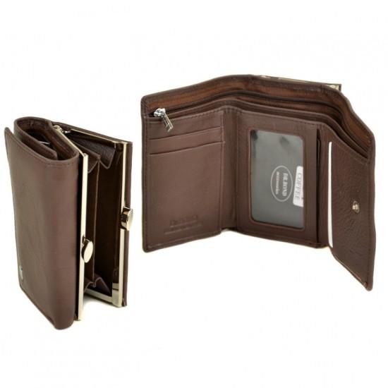 Женский кожаный кошелек dr.Bond Classic W11 кофейный