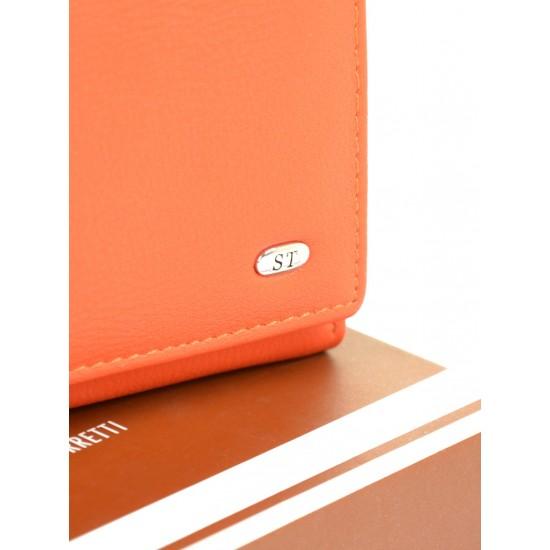 Женский кожаный кошелек SERGIO TORRETTI W11 оранжевый
