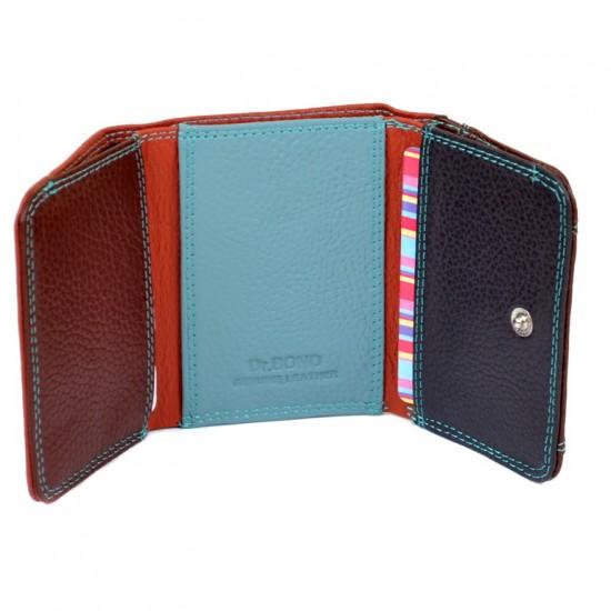 Жіночий шкіряний гаманець dr.Bond Rainbow WRS-7 чорний