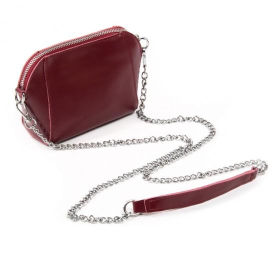 Жіноча сумочка-клатч з натуральної шкіри ALEX RAI 8106 бордовий