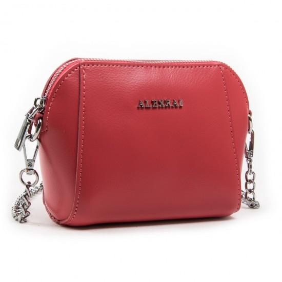 Жіноча сумочка-клатч з натуральної шкіри ALEX RAI 8106 фуксія