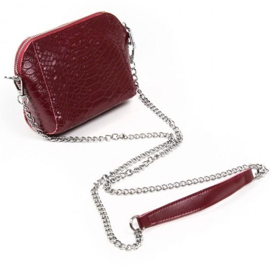 Жіноча сумочка-клатч з натуральної шкіри ALEX RAI 6009 бордовий