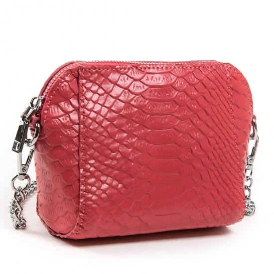 Жіноча сумочка-клатч з натуральної шкіри ALEX RAI 6009 фуксія