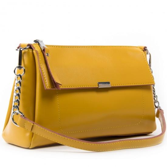 Жіноча сумка з натуральної шкіри ALEX RAI 8721 жовтий