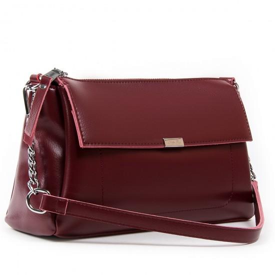 Жіноча сумка з натуральної шкіри ALEX RAI 8721 бордовий