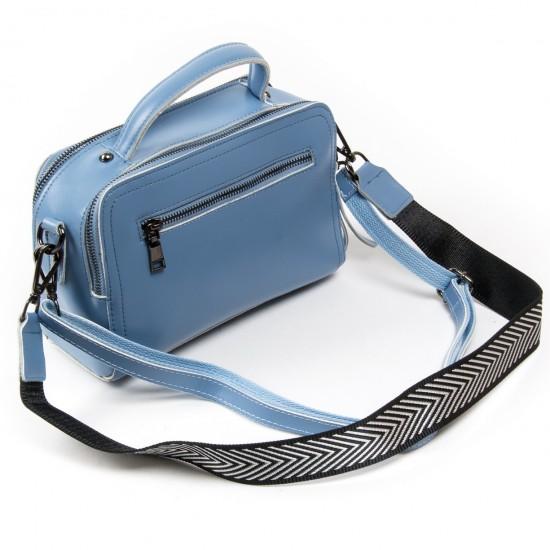 Женская сумка из натуральной кожи ALEX RAI 9119 синий