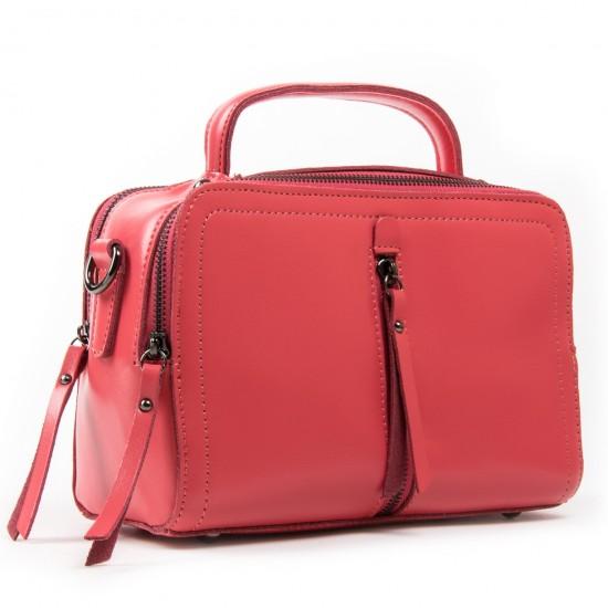 Женская сумка из натуральной кожи ALEX RAI 9119 фуксия