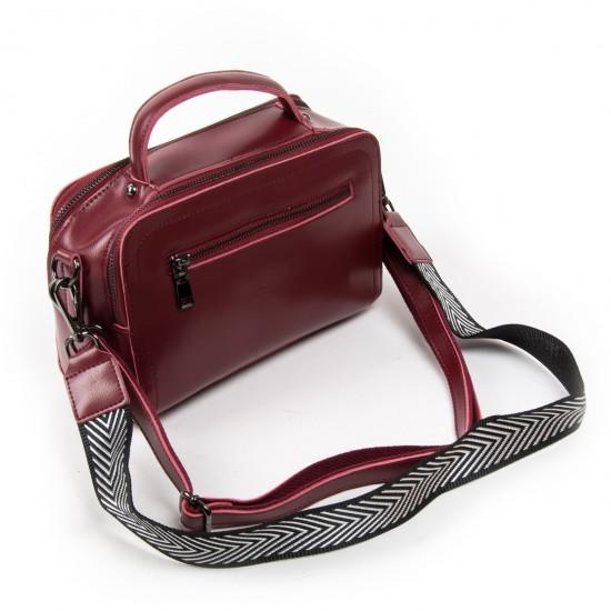 Женская сумка из натуральной кожи ALEX RAI 9119 бордовый