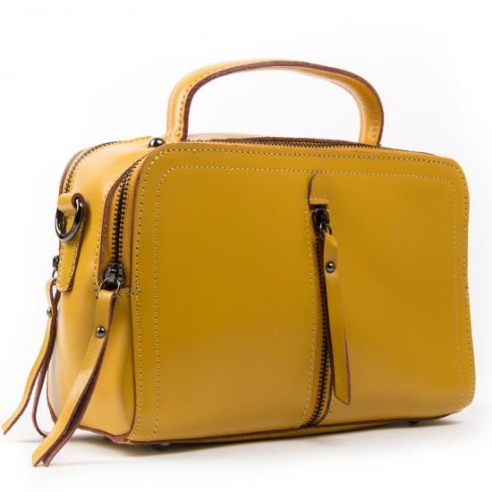 Жіноча сумка з натуральної шкіри ALEX RAI 9119 жовтий