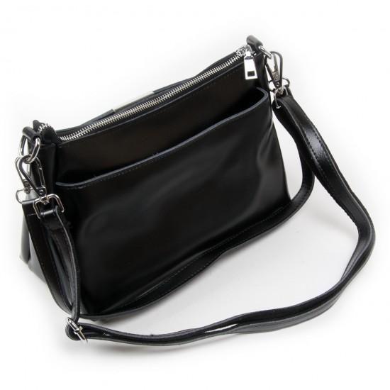 Жіноча сумка з натуральної шкіри ALEX RAI 8724 чорний
