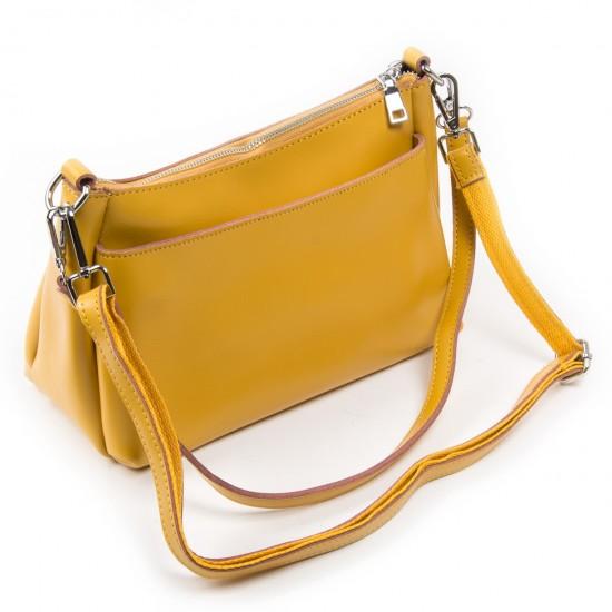 Женская сумка из натуральной кожи ALEX RAI 8724 желтый