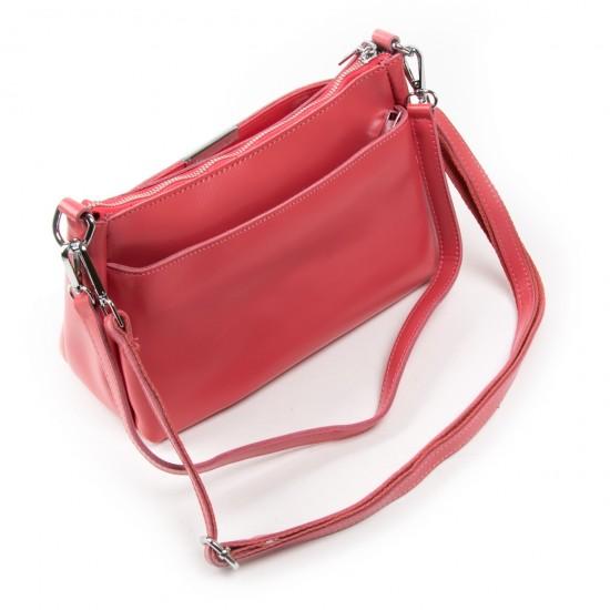Женская сумка из натуральной кожи ALEX RAI 8724 фуксия