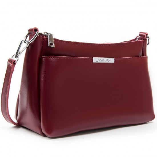 Жіноча сумка з натуральної шкіри ALEX RAI 8724 бордовий
