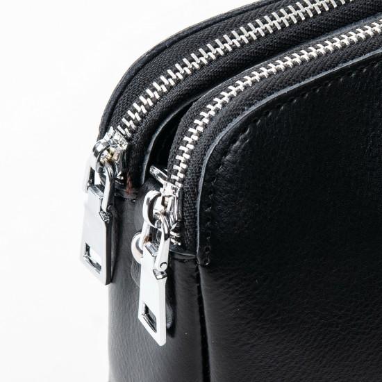 Жіноча сумочка з натуральної шкіри ALEX RAI 8701 чорний